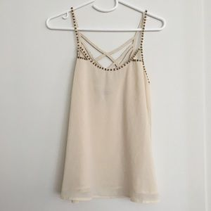 Forever 21 cream blouse